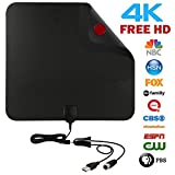 ahere TV Antenna HD,Digital Amplified HD Antenna with Detachable Signal Booster 10FT Low-loss Coaxial Cable for Receiving Local Digital OTA Channels