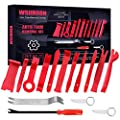 Wsiiroon Trim Removal Tool Kit 15pcs Car Panel Removal Tool Kit For Car Panel Door Dash Audio Removal Installer With Stainless Steel Repair Pry Bar