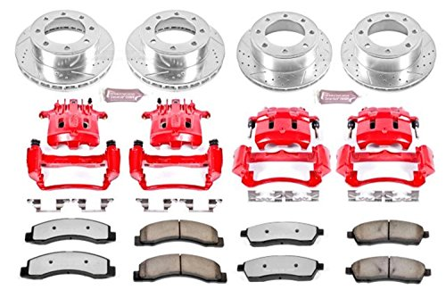 (Power Stop KC1906-36 Front & Rear Z36 Truck and Tow Brake Kit with Calipers)