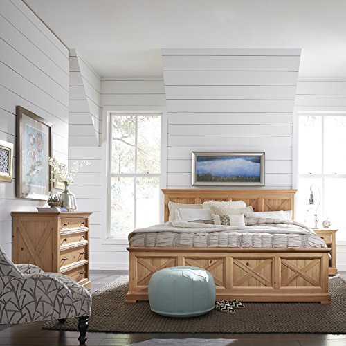 Home Styles 5524-6021 Country Lodge King Bed, Night Stand & Chest, Pine