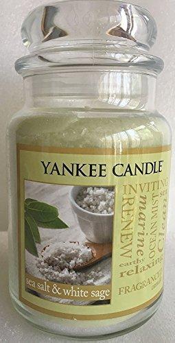Yankee Candle SEA SALT & WHITE SAGE Large 22 oz Candle