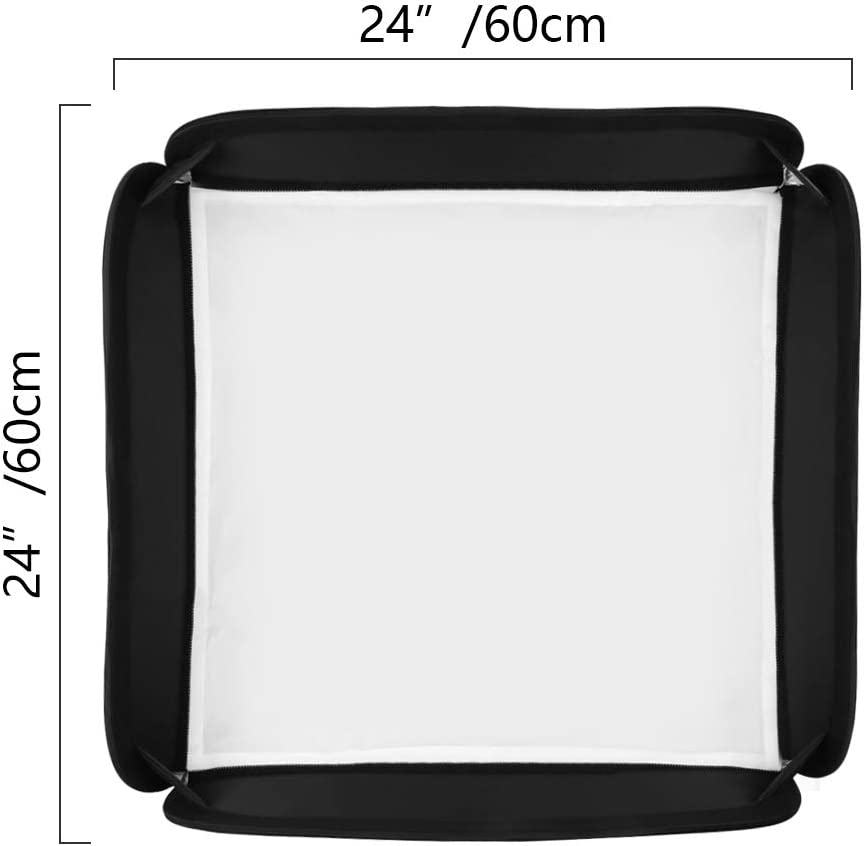 Godox 24x24//60cmx60cm Portable Collapsible Softbox Kit for Camera Photography Studio Flash fit Bowens Elinchrom Mount