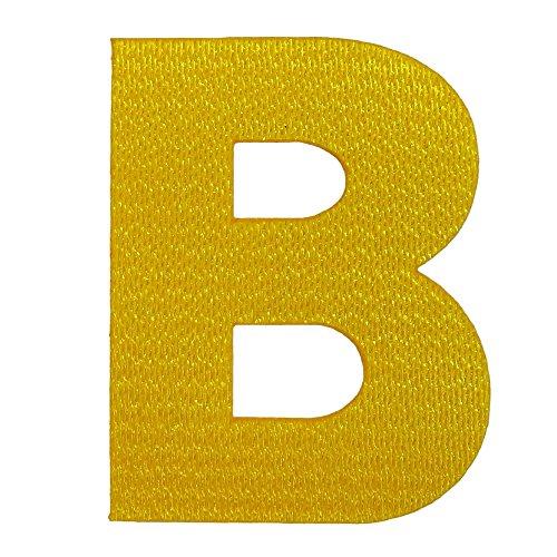 アルファベットワッペン 5cm イエロー B(ビー)の商品画像