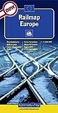 Railmap Europe 1 : 5 000 000 (Kümmerly+Frey Thematische Karten, Relief, Band 120)
