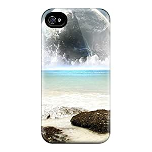 ASr1295cgTl Snap On Case Cover Skin For Iphone 4/4s(moon)
