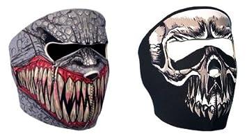 7X - Juego de 2 pasamontañas tipo máscara (protección de neopreno, talla única regulable