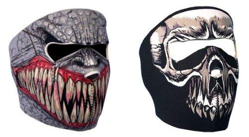 7X - Juego de 2 pasamontañas tipo máscara (protección de neopreno, talla única regulable, apto para uso en exteriores, en esquí, snowboard, surf, moto y ...