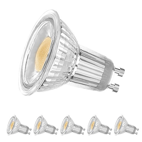 Mr16 Gu10 Led Bulbs Dimmable 7w 50w Equivalent 3000k: LEDERA GU10 LED Bulb, Dimmable MR16 5W 500LM(35W-50W
