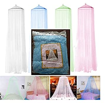 S.P.S Elegant Round Curtain Bed Mesh Canopy Netting Mosquito Net for Twin Bed Only (Blue  sc 1 st  Amazon.com & Amazon.com: S.P.S Elegant Round Curtain Bed Mesh Canopy Netting ...