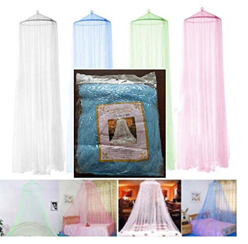 Mosquito Net Bed Canopy (S.P.S Elegant Round Curtain Bed Mesh Canopy Netting Mosquito Net for Twin Bed Only (Blue))
