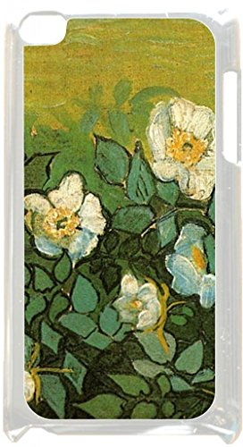 Vincent Van Gogh-Wild Roses - Case for the Apple Ipod 4th Generation-Hard White Plastic