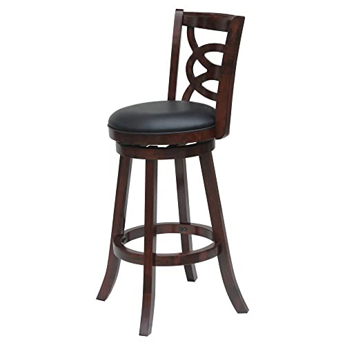 Boraam Siena 24 Swivel Counter Stool in Cherry Finish