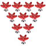 Choubao 10pcs Starfish Home Decor Mediterranean Style Ceramic Drawer Cabinet Cupboard Door Pull Handle Knob Children's Room Decoration 7 Colors Available-Red