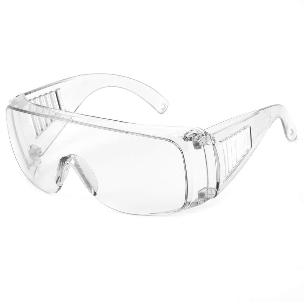 Gafas Protectora Seguridad Protección Laboral Visera Transparente Antivaho Lavable Reutilizable a Prueba de Viento
