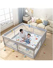 Portable Baby Playpen,Indoor&Outdoor Kids Activity Center Safety Foldable Baby Playpen Anti-Fall Baby Fence Baby Playards with Gate for Children from 10 Months to 6 Years Old