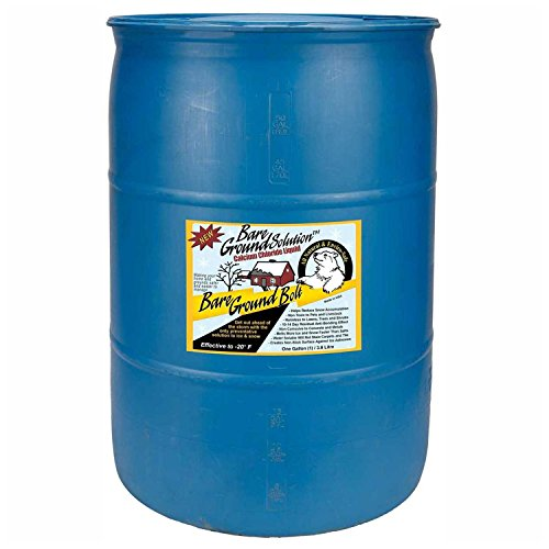 Bare Ground Bolt BGB-55DC Fast-Acting CaCl2 Ice Melt Liquid for All Surfaces in Professional Drum, 55 Gallons