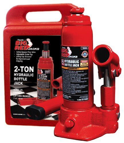 Torin Big Red Hydraulic Bottle Jack with Carrying Case, 2 Ton Capacity by Torin