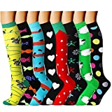 CHARMKING Compression Socks 15-20 mmHg is BEST Graduated Athletic & Medical for Men & Women Running, Travel, Nurses, Pregnant - Boost Performance, Blood Circulation & Recovery(Small/Medium,Assorted19)