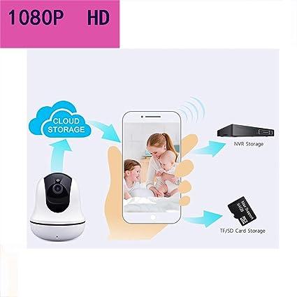 1080P Cámara Ip Wifi Con Micrófono Y Altavoz IR Visión Nocturna, Detección De Movimiento,