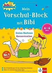 Mein Vorschul-Block mit Bibi Blocksberg: Erstes Rechnen, Konzentration 4 - 6 Jahre