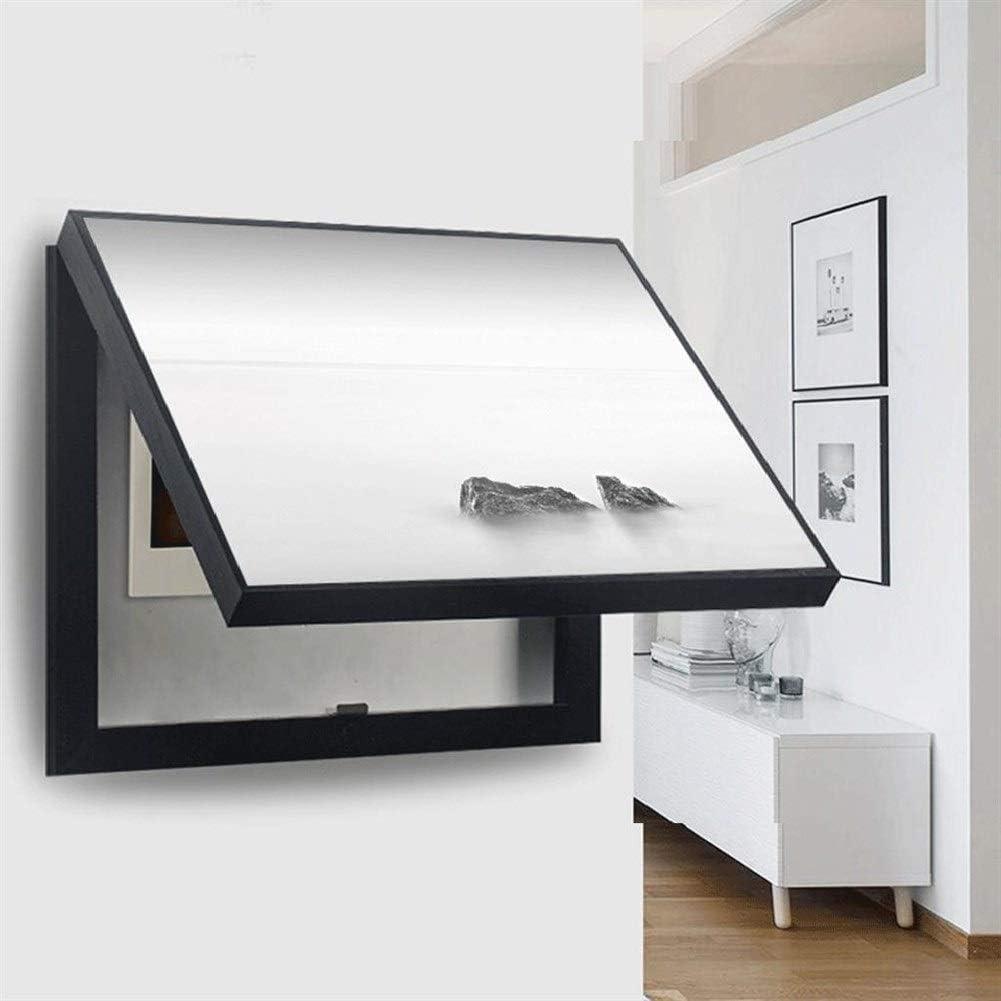 Cuadro de medidor decorativo de la cubierta de la tapa del tirador del paisaje en blanco y negro simple secci/ón transversal Pared de la sala Antifouling Cuadro de la pared de la cubierta vertical de