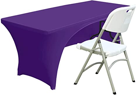 ABCCANOPY Spandex Table Cover 6 ft Fitted 30 Black Colors Polyester Tablecloth Stretch Spandex Table Cover-Table Toppers