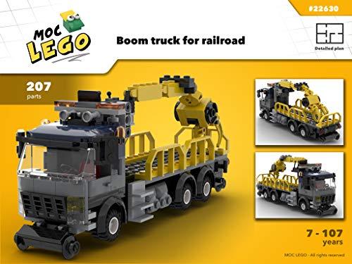 Wood Crane Train (Instruction Only): MOC LEGO por Bryan Paquette