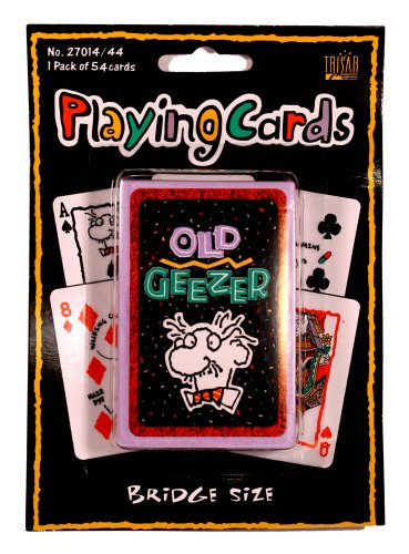 Old Geezer Playing Cards by Factory Card and Party Outlet