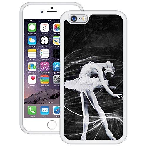 Ballerina Black & White | Handgefertigt | iPhone 6 6s (4,7') | Weiß TPU Hülle