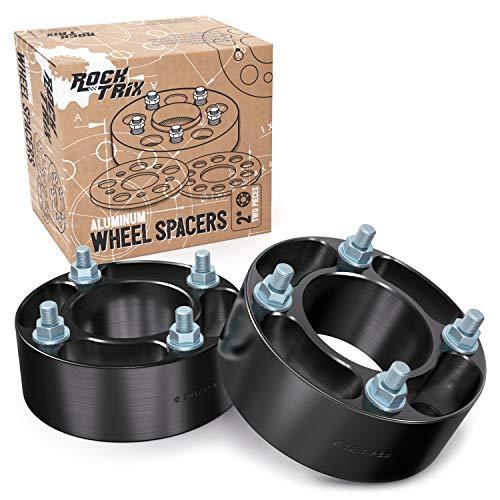 "RockTrix 2pc 2"" Thick Black 4x110 ATV Wheel Spacers (74mm Centerbore, 10x1.25 Studs/Nuts) for many Honda Yamaha Kawasaki Suzuki Bombardier (See Description for Year/Model Info) 4/110 UTV V2"