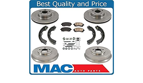 Front Rear Semi-Matllic Brake Pad And Drum Shoes Kit For Toyota Celica