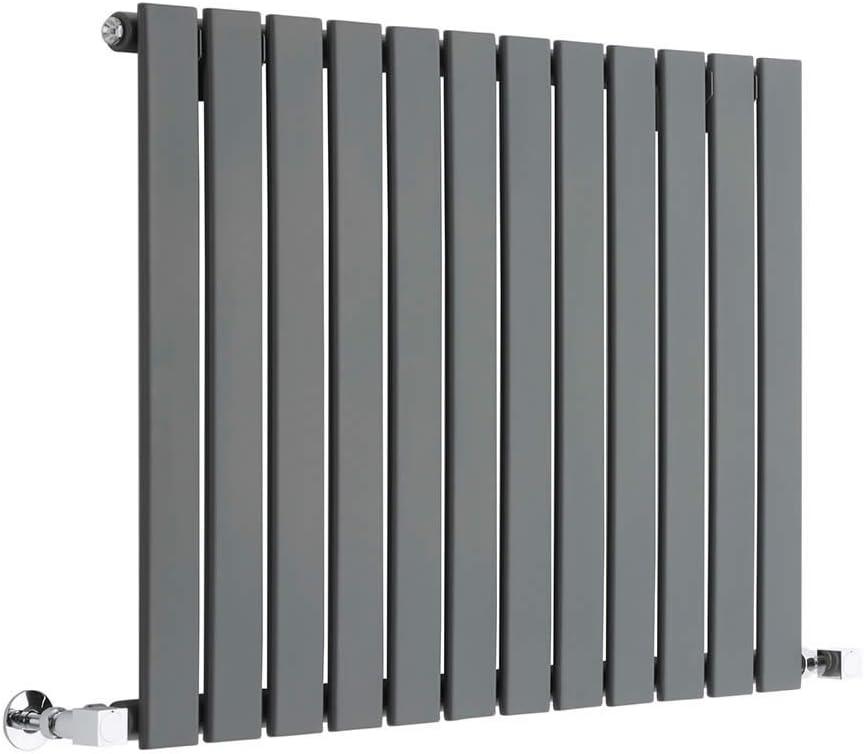 635 x 420mm Radiador con Acabado Antracita 376W Calefacci/ón Hudson Reed Radiador de Dise/ño Moderno Horizontal Delta Paneles Planos