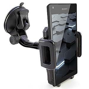 Soporte de coche para Sony Xperia Z5/Z5Premium/Z5Compact/Z3/Z3+ Plus/Z3Compact/Z2/Z1/Z1Compact/Z/Z Ultra/Soporte de coche para el parabrisas en negro