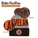 Football City Pom Beanie Premium Embroidered Patch