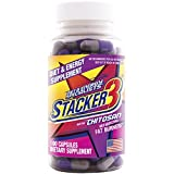 Stacker 3 Metabolizing Fat Burner with Chitosan, Capsules, 100-Count Bottle (Pack of 3)