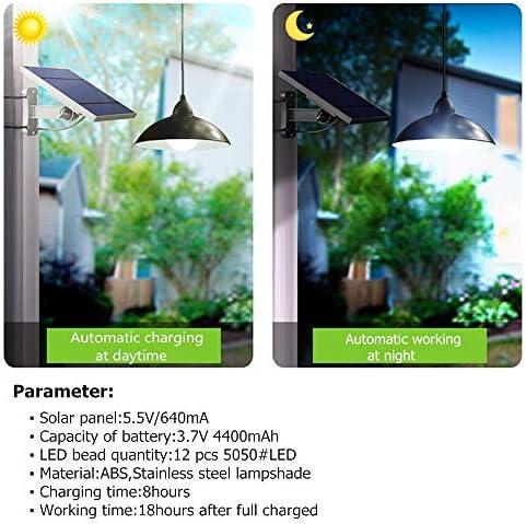 ZMK-720 Solar Außen Kronleuchter Solarlicht Mit Fernbedienung Retro Lampshade Solar-LED-Birne 3Meter Cord Hängeleuchte for Den Außen Garten-Yard-Lampe #D666