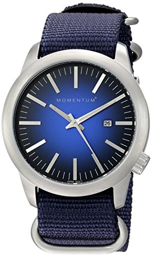 Momentum Men's Quartz Stainless Steel and Nylon Dress Watch, Color:Blue (Model: 1M-SP10U7U)