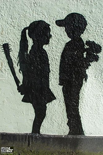 Banksy Boy Meets Girl Graffiti Art Poster