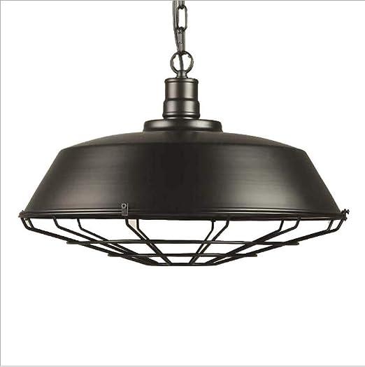 WIVION Luces Colgantes industriales Edison, Estilo Vintage, lámpara Colgante Lámpara Colgante Rust Retro Lámpara Industrial Lámpara de Mesa de Comedor E27 Lámpara de iluminación: Amazon.es: Hogar