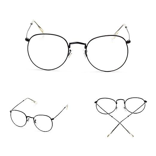 019d8e9559f Doober Vintage Men Women Eyeglass Frame Glasses Round Spectacles Clear Lens  Optical (Black