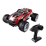 SainSmart Jr. 1/16 RC Monster Truck, 2.4GHZ 2WD Fast Speed Racing Truggy, Electric RTR Big Wheel Buggy