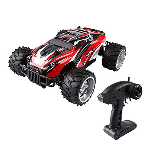 SainSmart Jr. 1/16 RC Monster Truck, 2.4GHZ 2WD Fast Speed Racing Truggy, Electric RTR Big Wheel Buggy (Jr Rc Control)