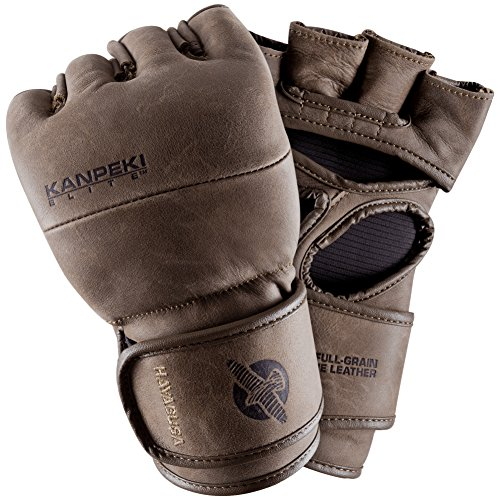 Hayabusa Leather Kanpeki Elite 3 4oz MMA Gloves, Brown, X-Large