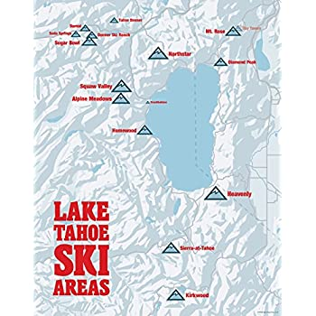 Tahoe Ski Resort Map on