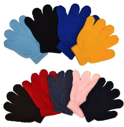 (MJ Boutique Wholesale Lot Of 10 Dozen Of Infant Baby Gloves Random)