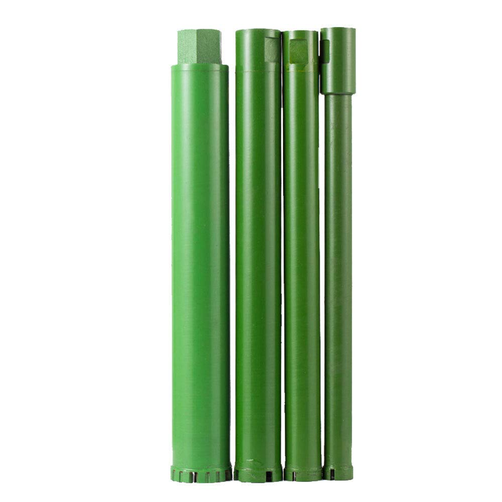 TABODD 4Pcs 1'' 1.2'' 1.5''2'' Wet Diamond Core Drill Bit for Concrete- Premium Green Series Grade Highway Building Hard Material