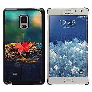 LECELL--Funda protectora / Cubierta / Piel For Samsung Galaxy Mega 5.8 -- Hoja de arce roja --