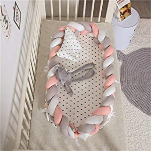 Hayisugal Baby Nest pod, Baby Pillow Bed Cushion Bassinet Newborn Toddlers Bionic Bed Cribs Infants Sleep Bed Lounger…