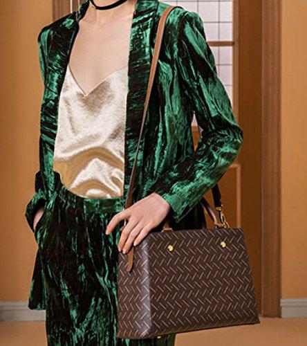 à Sac Capacité Apricot Mode Main à Grande Impression Pour Décontracté Sac Vintage Bandoulière KYOKIM Femmes 7qZgw