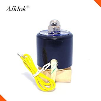 Specification: 1, Voltage: 110VAC, Thread Type: BSP Fincos 2W Water Air Gas Solenoid Valve Normally Closed Brass 110v 12v 220v 24 1//4inch to 2inch NBR Seal